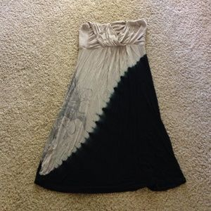 Dresses & Skirts - Strapless ombré dress grey/navy blue -small